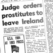 Brothel Keepers in 1980s Ireland, newspaper coverage