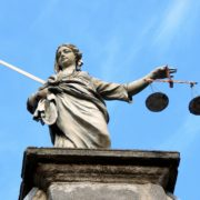 The Lady Justice Statue In Dublin, Ireland